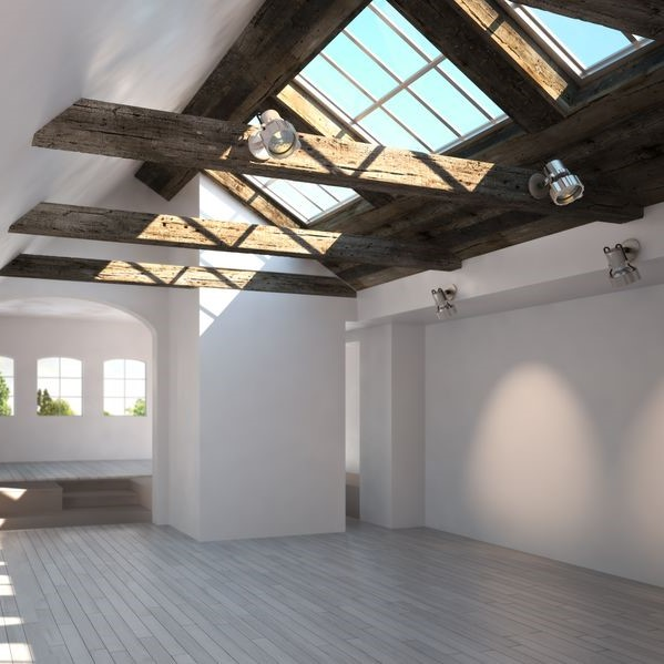 Skylights in a room