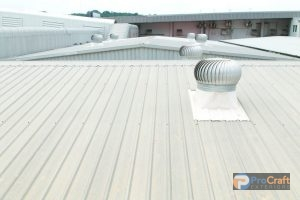 Commercial Metal Roofing System Installed by Roofers