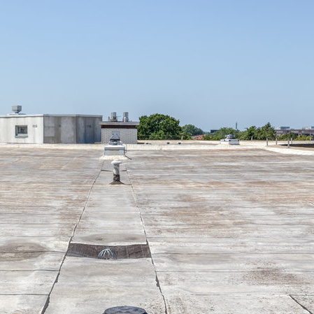 damaged and worn flat roof