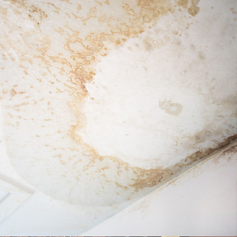 leak stain on ceiling