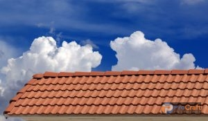 Ceramic Tile Roofing with Clouds