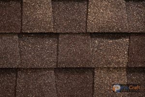 Rows of Impact Resistant Shingles