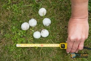 Hail Stones and Measuring Tape