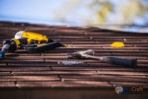 Roof Repair Equipment on Shingles