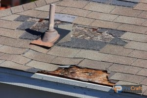 Badly Damaged Shingles